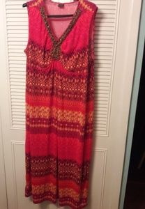 Bright and Beaded Maxi Dress